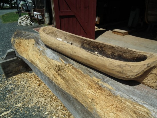 Authentic construction using centuries-old methods is performed for the education of visitors and creation of new vessels.   THE CHESAPEAKE TODAY photo