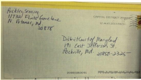 Envelope to Court
