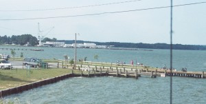 Many folks fish for free around the Piney Point boat ramp. Fishing from the bridge is prohibited due to boat traffic underneath. THE CHESAPEAKE TODAY photo