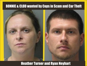 Bonnie & Clod wanted by Delaware cops