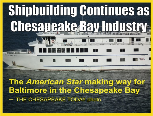 Chesapeake Shipbuilding graphic with American Star