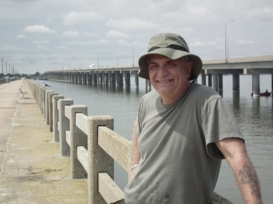 Tony Averella of Baltimore finds the Bill Burton Fishing Pier & State Park that reaches out over the Choptank River to be the way to go instead of reaching the beach.  THE CHESAPEAKE TODAY photo