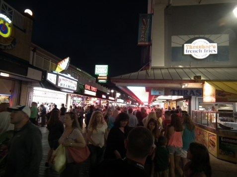 Ocean City Boardwalk line at Thrashers. THE CHESAPEAKE TODAY photo