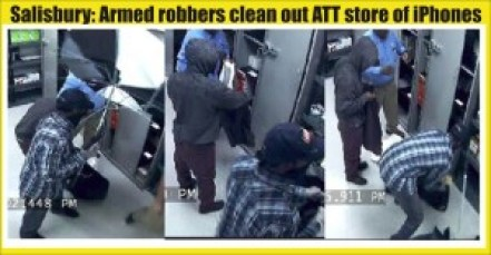 Salisbury armed robbers clean out ATT store