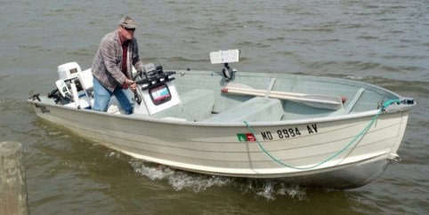 Catfish Larry Jarboe photo for The Chesapeake Today by Bill Davis
