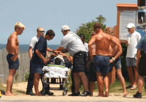 Surf injury in Rehoboth. The Beach News by Alan Henney