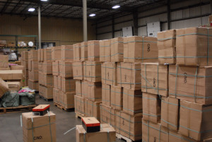 Containers of counterfeit goods flood the United States on a regular basis, this warehouse full was collected by an undercover effort of federal agencies.