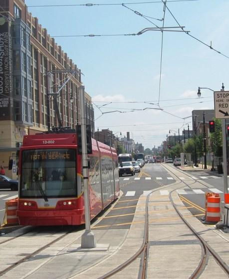DC street car on H Street