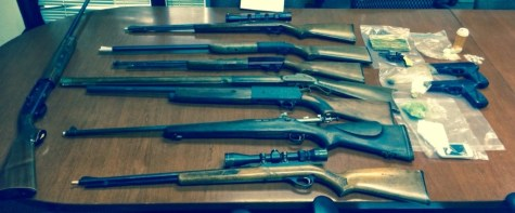 Marlboro Pike evidence the guns and drugs