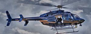 Delaware State Police chopper in sky