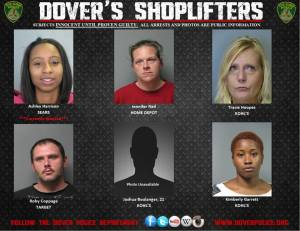 Dovers shoplifters for Oct. 10 2014