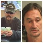 Glen Burnie Bank robbery 101814, left, right is Eric Fish, who police is the man shown robbing the Bank of America branch.