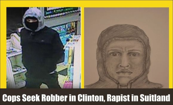 Cops seek robber in Clinton and rapist in Suitland