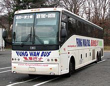 A bus similar to this Fung Wah Bus Van Hool coach is reported by Virginia State Police to have killed a man crossing a dark highway in the early morning hours of March 31, 2015.