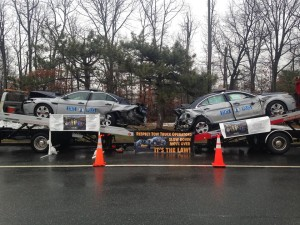 Virginia State Police wrecked cruisers