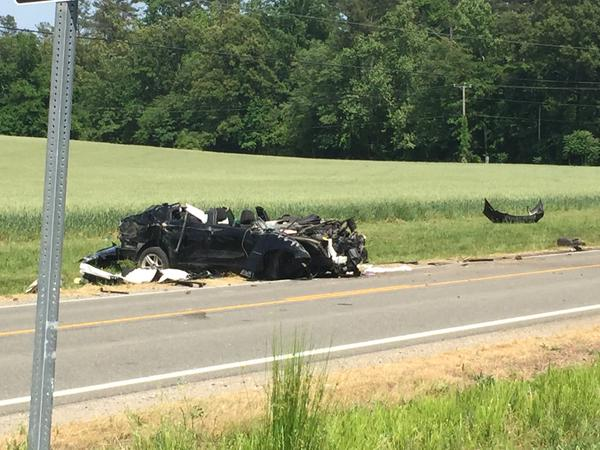 Crash in Charles City County PHOTO Jon Burkett WTVR