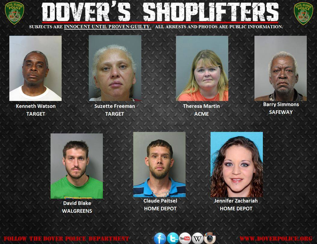 Dover Police Beat: Dover's Undocumented Shoppers for May 22