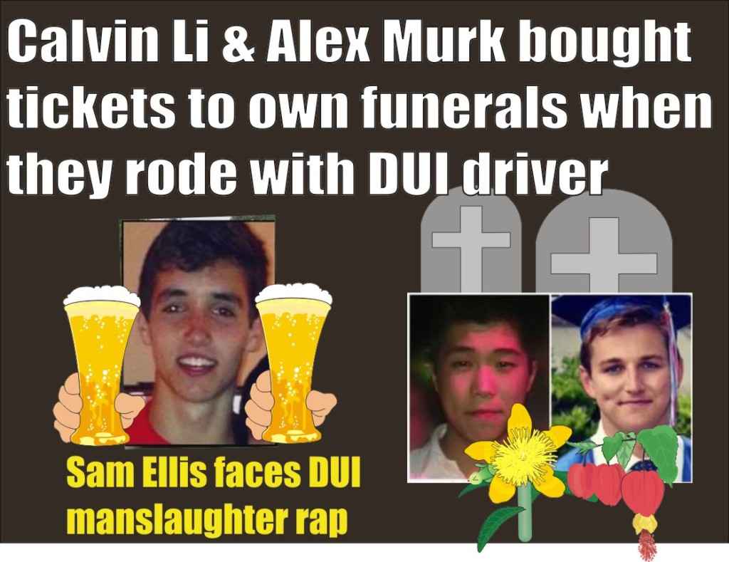 Sam Ellis will face double DUI rap for deaths of Calvin Li and Alex Murk