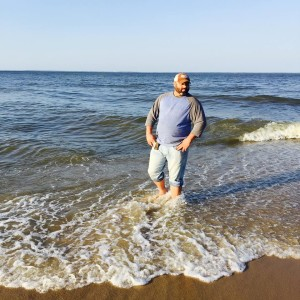 Daniel Brown at edge of Chesapeake where he drowned.  Facebook page of Daniel Brown
