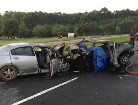 Head on crash on U.S. 13 Eastville Va 081815