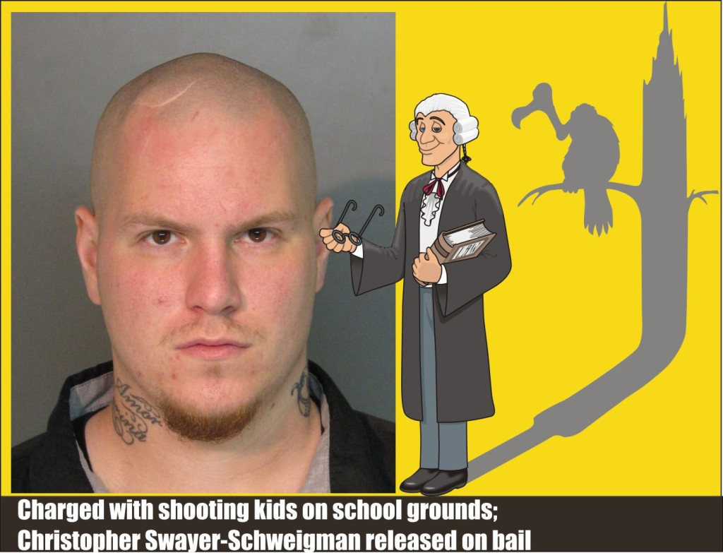 Christopher Swayer-Schweigman released on bail on charges of shooting kids on school grounds