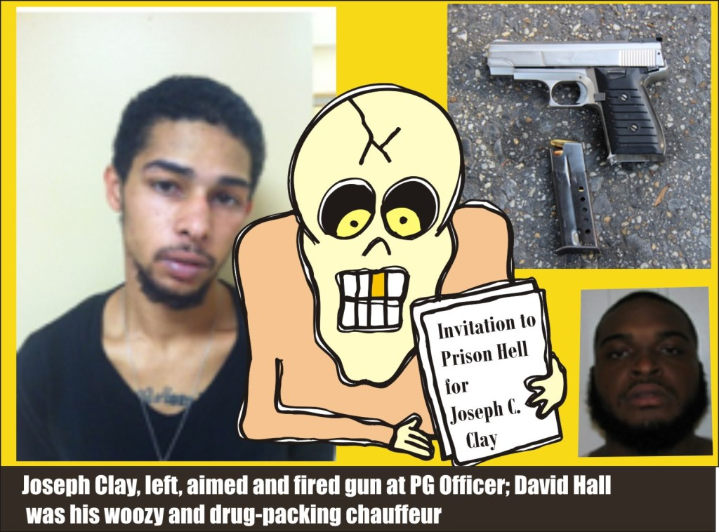 Joseph Clay aimed and fired gun at PG Officer