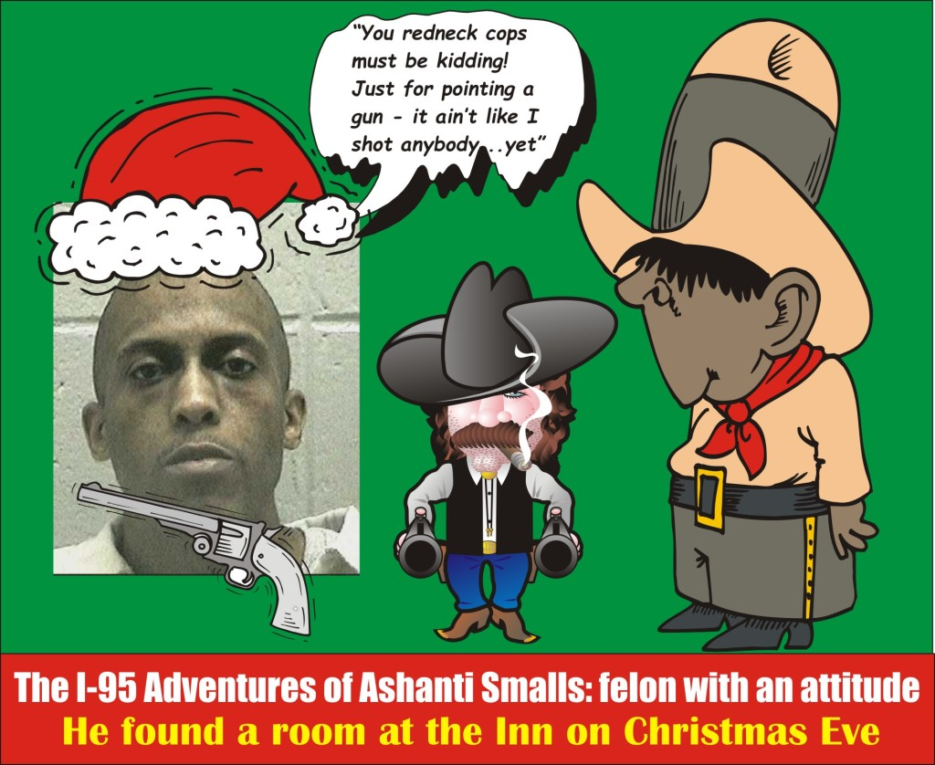 Ashanti Smalls felon pointing gun in road rage on I 95 on Christmas Eve MSP