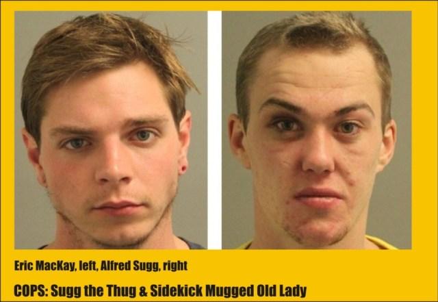 Sugg the Thug & sidekick mugged old Lady