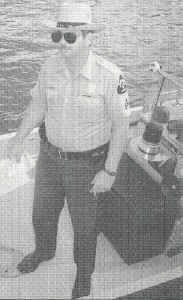 Cpl. Dennis Leland on Natural Resources Police boat