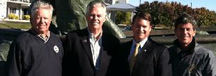 Robert T Brown Sr, Senator Hershel, Delegate Jacobs photo courtesy of Md Watermen's Assoc.