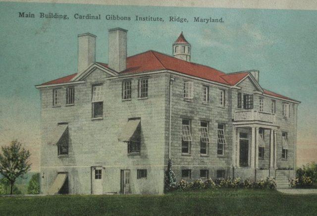 Cardinal Gibbons Institute main building, Ridge, Maryland