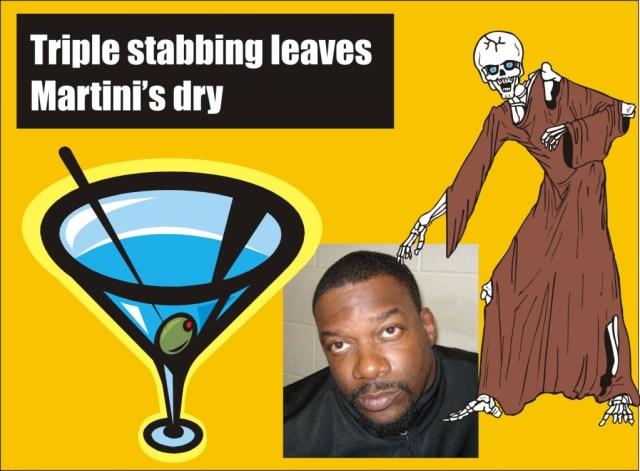 Triples tabbing leaves martini's dry