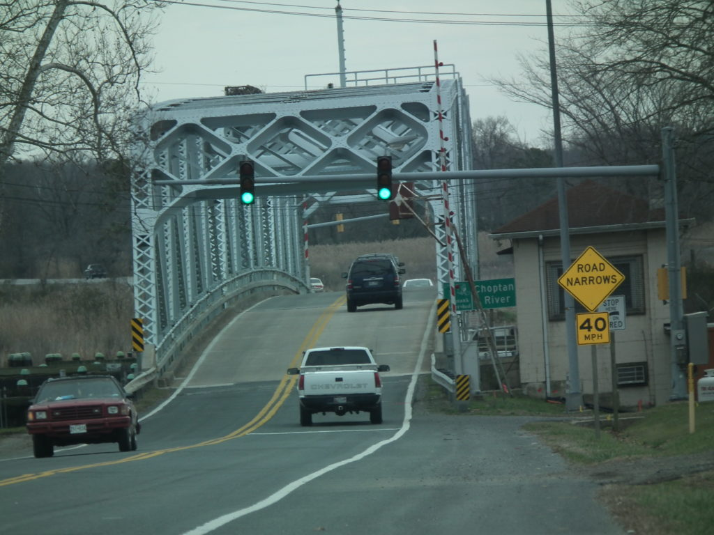 The historic Dover Bridge over the Choptank River at Talbot County. THE CHESAPEAKE TODAY photo