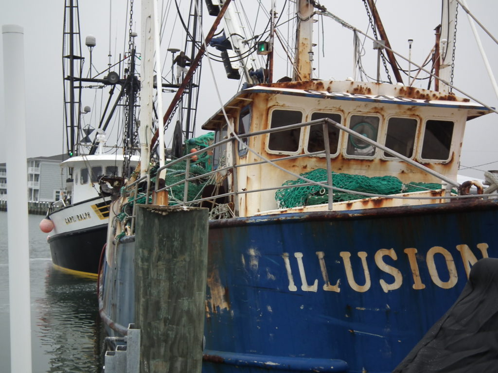 Illusion and Capt. Ralph at port in Chincoteague, Va. THE CHESAPEAKE TODAY photo