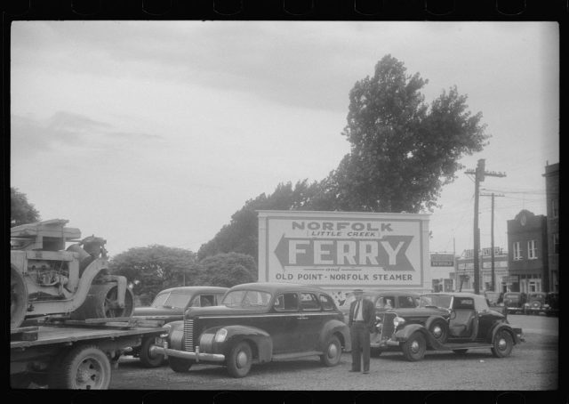 Norfolk Little Creek Ferry and Old Point Norfolk Steamer waiting line 1940 Photo by Jack Delano
