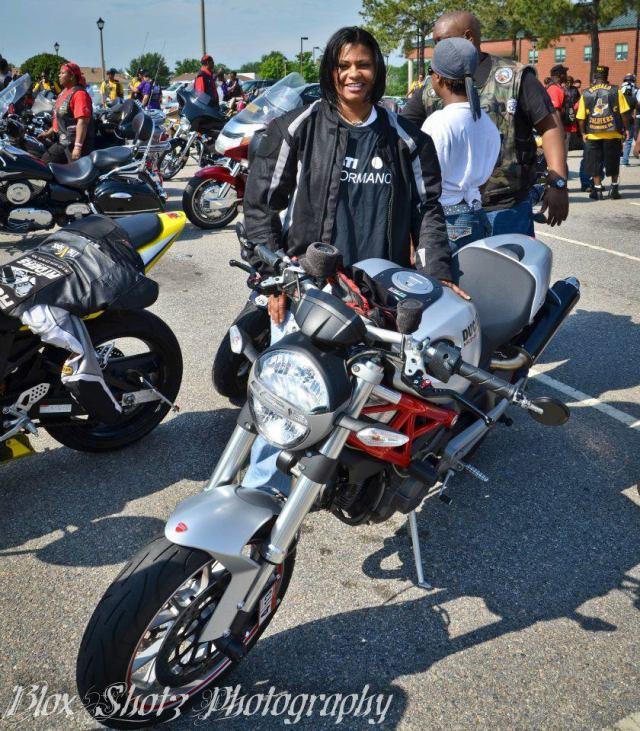 Stacy Custalow with her bike. Facebook photo