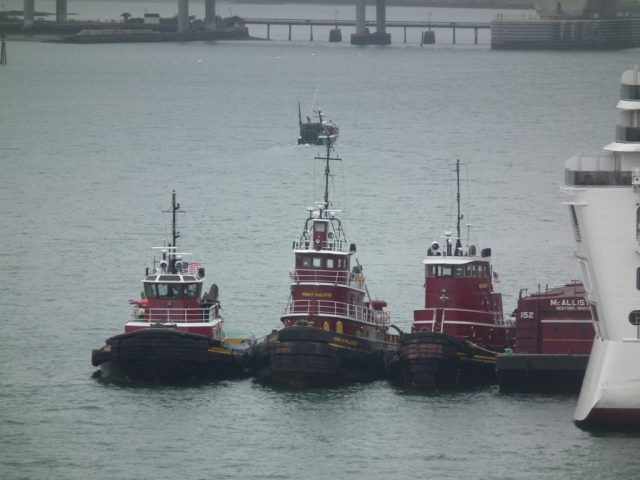 Tug time in Portland Maine. THE CHESAPEAKE TODAY photo