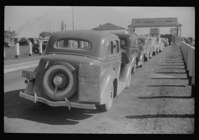 Waiting for the Cape Charles Ferry to Norfolk 1940 photo by Jack Delano