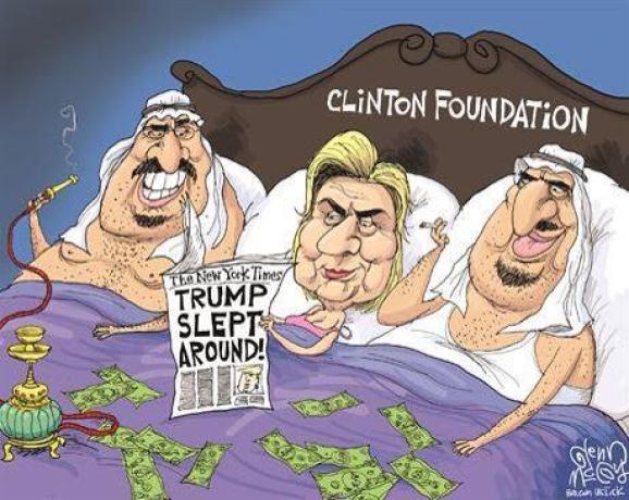 Hillary says Trump slept around