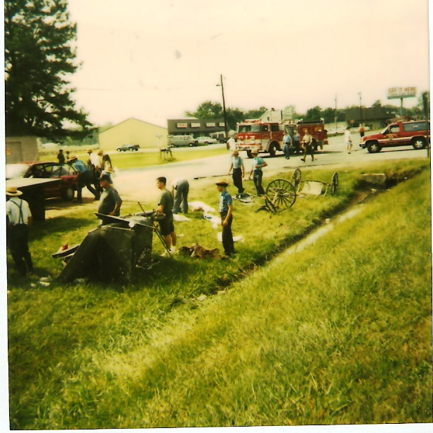 A previous crash with an Amish buggy a short distance away in Mechanicsville, Md. THE CHESAPEAKE TODAY photo