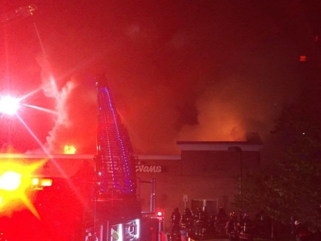 Bob Evans fire Photo courtesy of Easton VFD ground view
