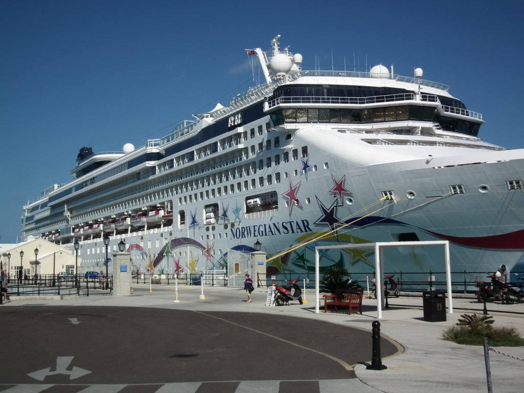 Norwegian Star docked at Royal Dockyard in Bermuda THE PRIVATEER CLAUSE photo