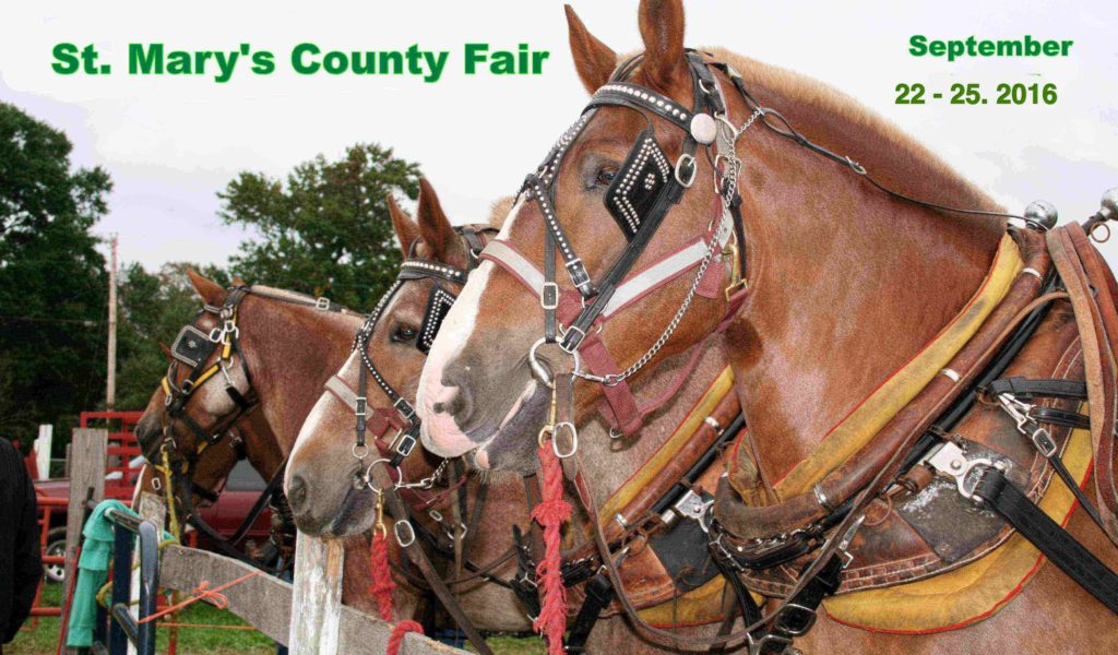 St. Mary's County Fair Sept. 22nd thru 25th 2016