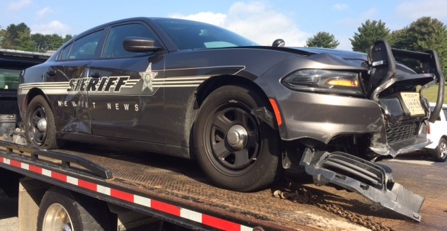 Wythe-County-Sheriff-cruiser-forced-off-road-by-Crutchfield-on-I-81