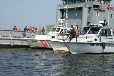 Coast Guard drill near Baltimore, Maryland. The Chesapeake Today photo