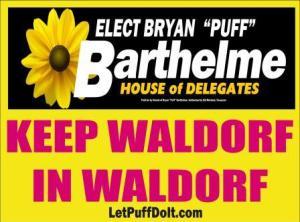 Keep Waldorf in Waldorf barth yard sign