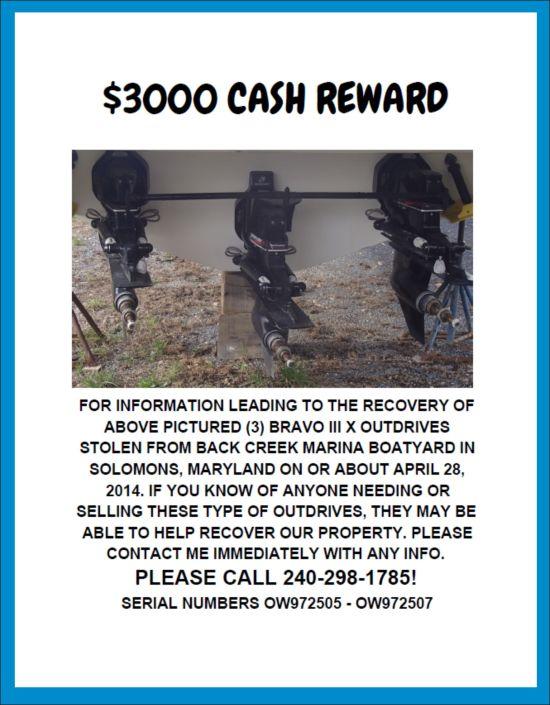 $3,000 CASH REWARD