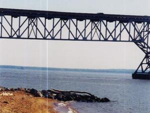 Gov. Harry W. Nice Bridge at Morgantown takes Rt. 301 from Maryland to Virginia.  THE CHESAPEAKE TODAY photo