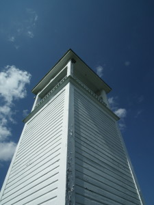 The county fathers of St. Mary's County were slow to learn about tourism. When the promoters of the Chesapeake Bay Maritime Museum at St. Michael's Md. learned that the Coast Guard was converting the lighthouse to automatic they asked for and received the Bell Tower, which is now on display at St. Michaels.  THE CHESAPEAKE TODAY photo