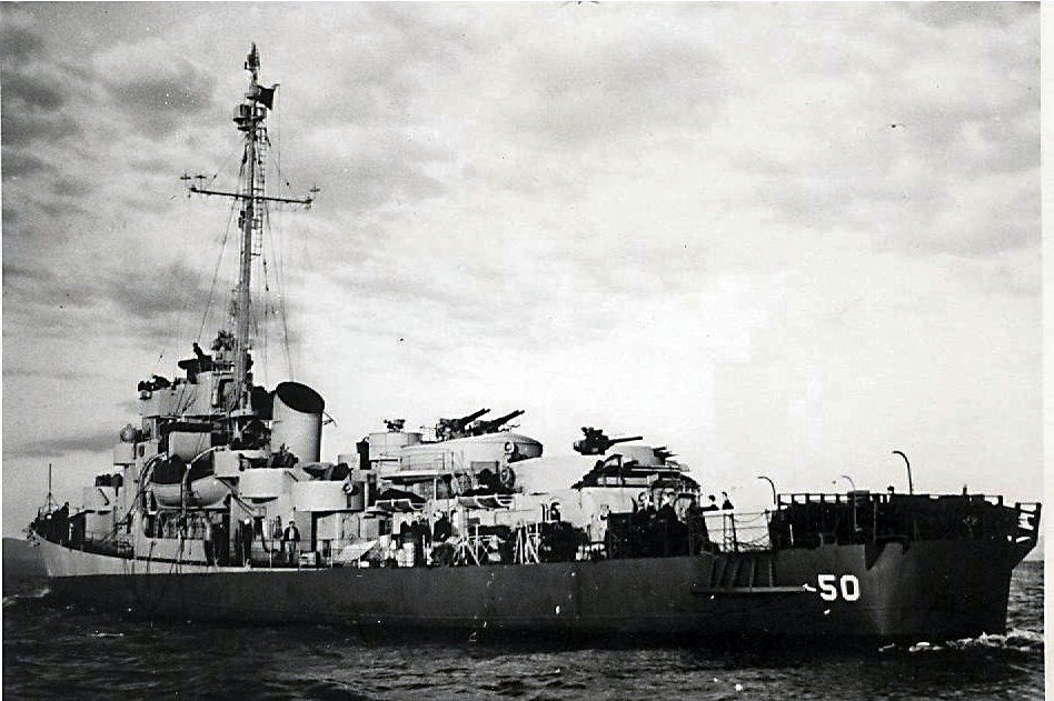USS Engstrom fought through WWII and was sold for scrap in 1946.
